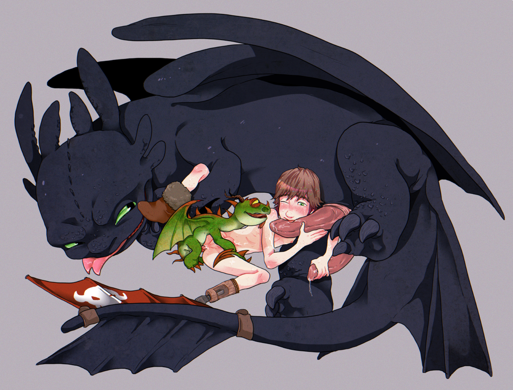 x hiccup toothless fanfiction mating Catwoman and harley quinn having sex