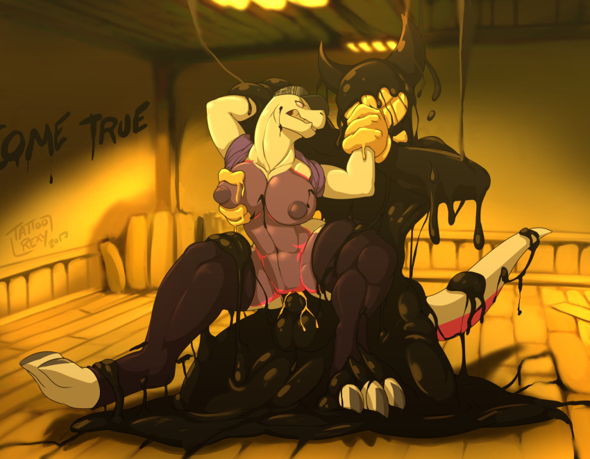 the bendy and porn ink machine gay Claire redfield and steve burnside